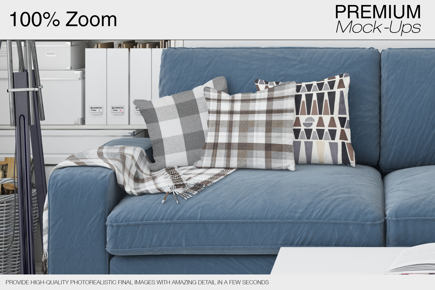 Pillows & Frames Mockup Set example image 22