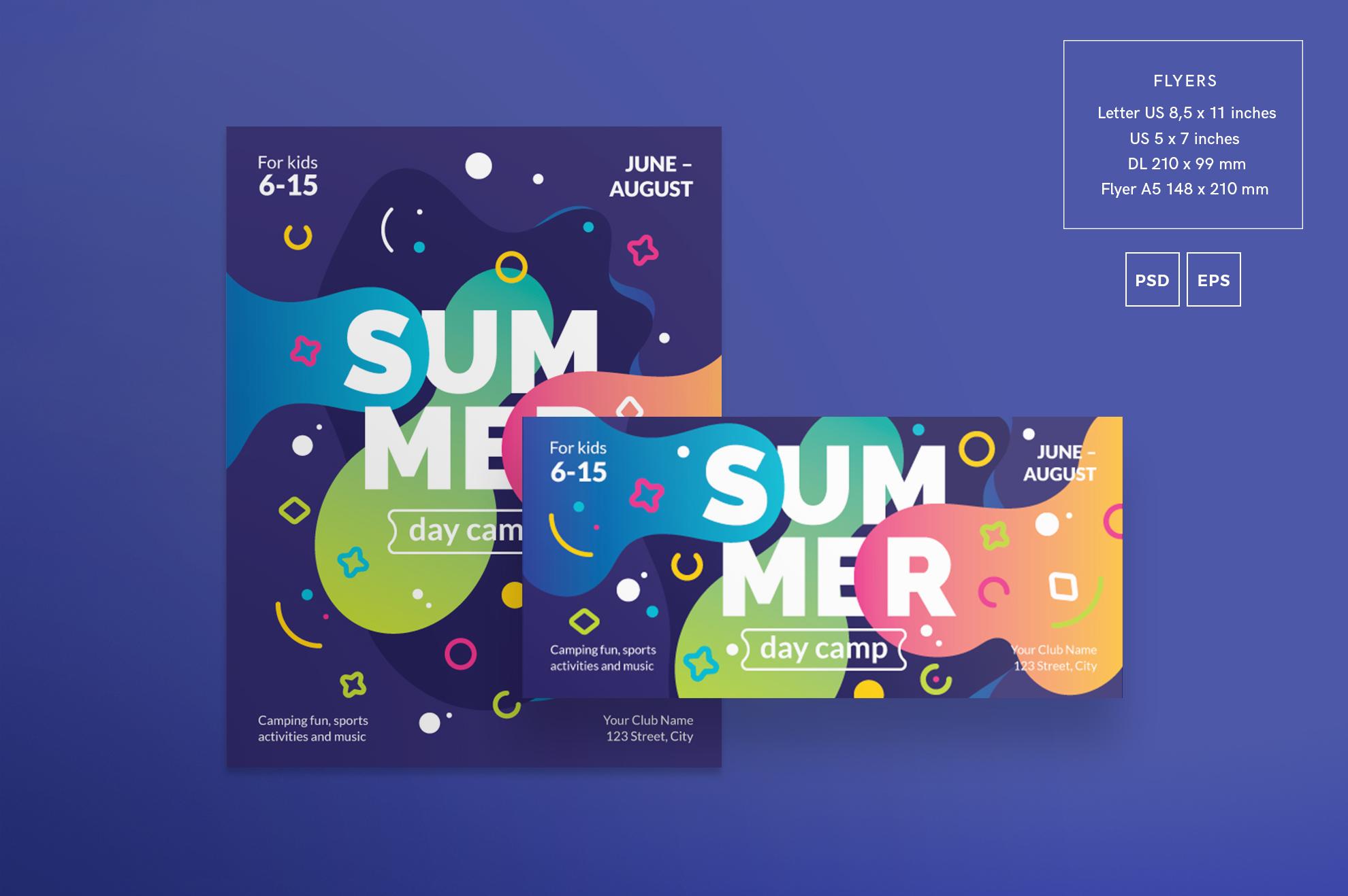 Summer Day Camp Design Templates Bundle example image 8