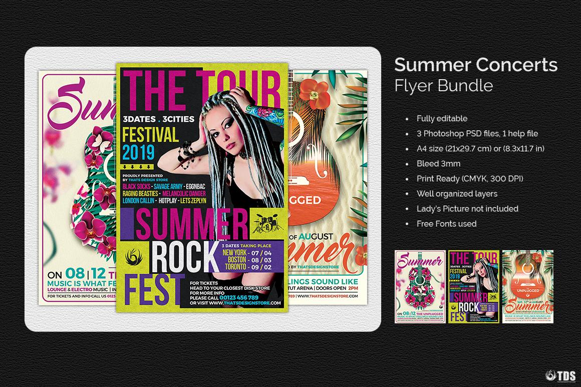 Summer Concerts Flyer Bundle example image 2