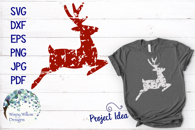 Distressed Grunge Reindeer | Christmas SVG example image 1