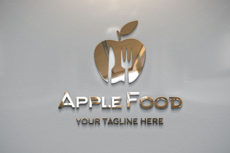 Food Apple Restaurant Logo example image 3