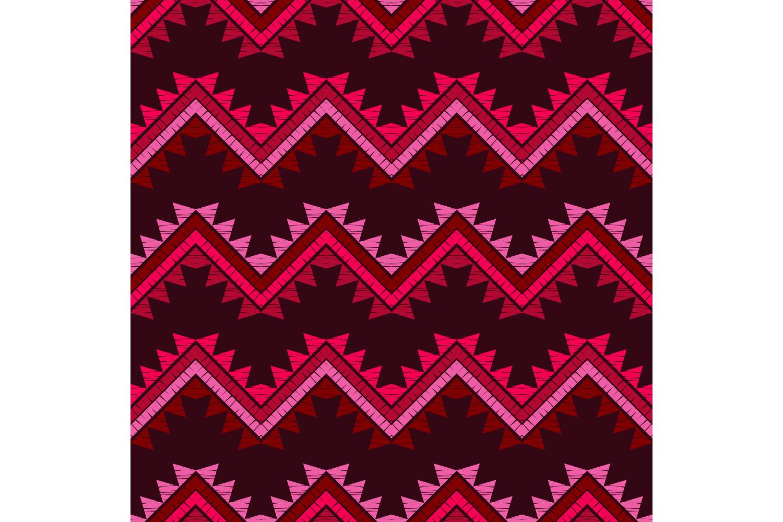 Ethnic boho ornament. Zigzag. Set of 10 seamless patterns. example image 5