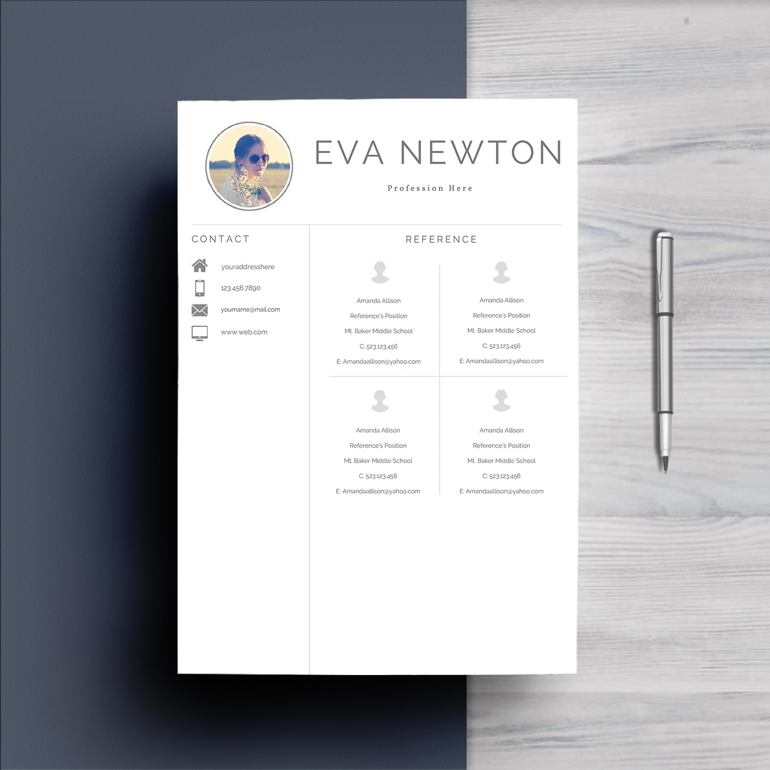 Resume Template 4 Pages example image 6