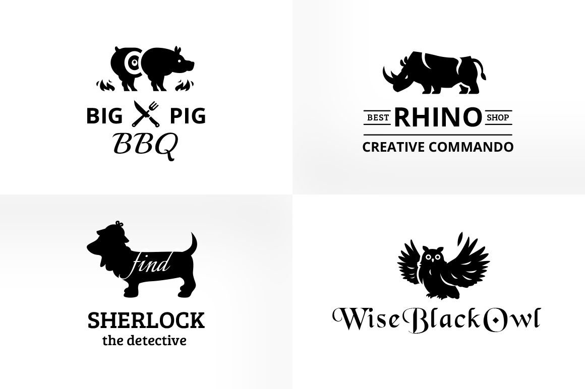 Vintage & Creative Animal Logo Badge example image 3