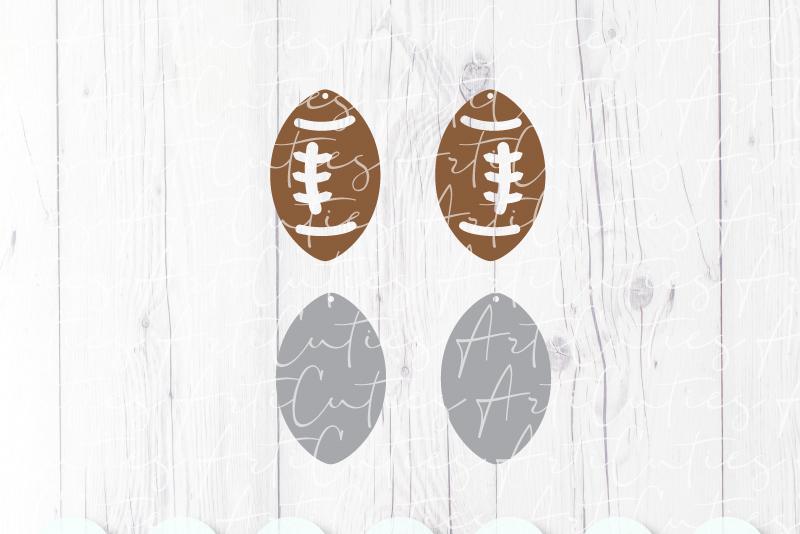 Football earrings template SVG, DIY earrings template example image 2
