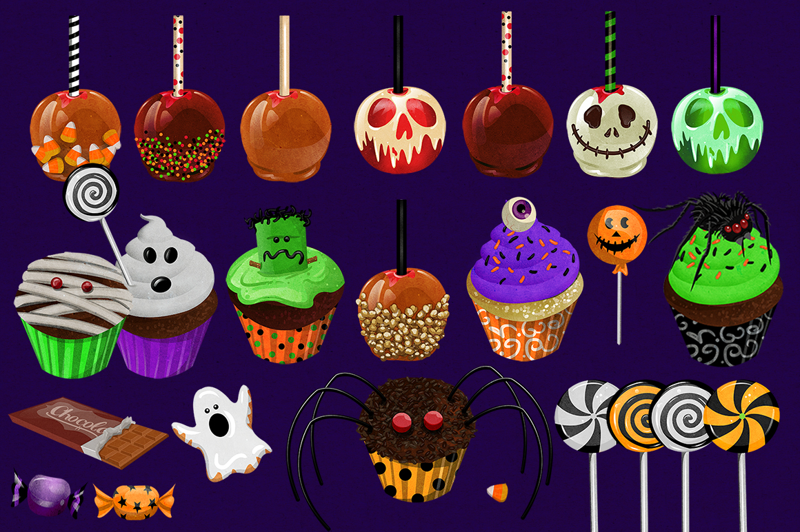 Halloween Sweets & Treats Clipart example image 2
