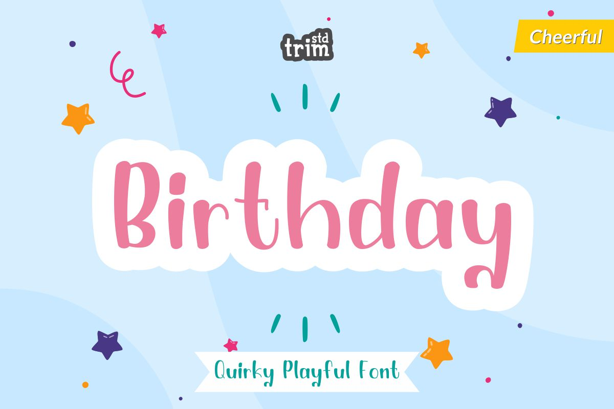Birthday - Quirky Playful Font example image 1