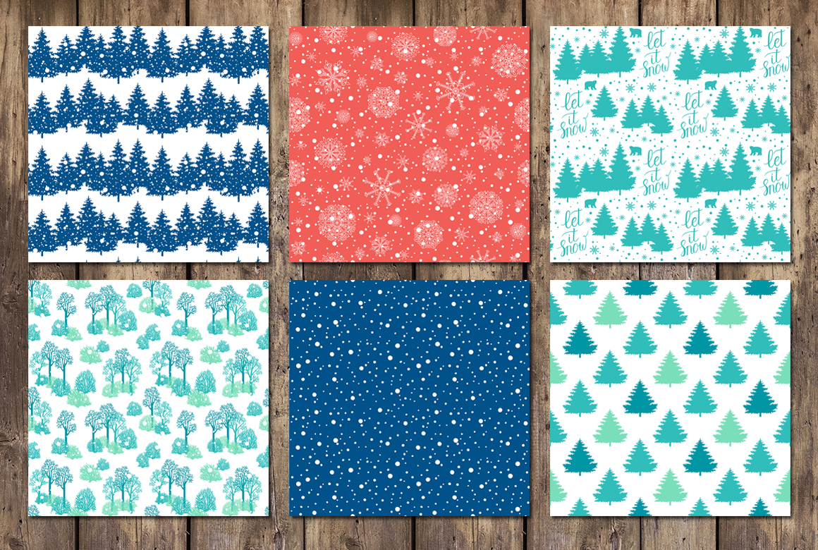 12 Holiday cards + 12 patterns example image 3