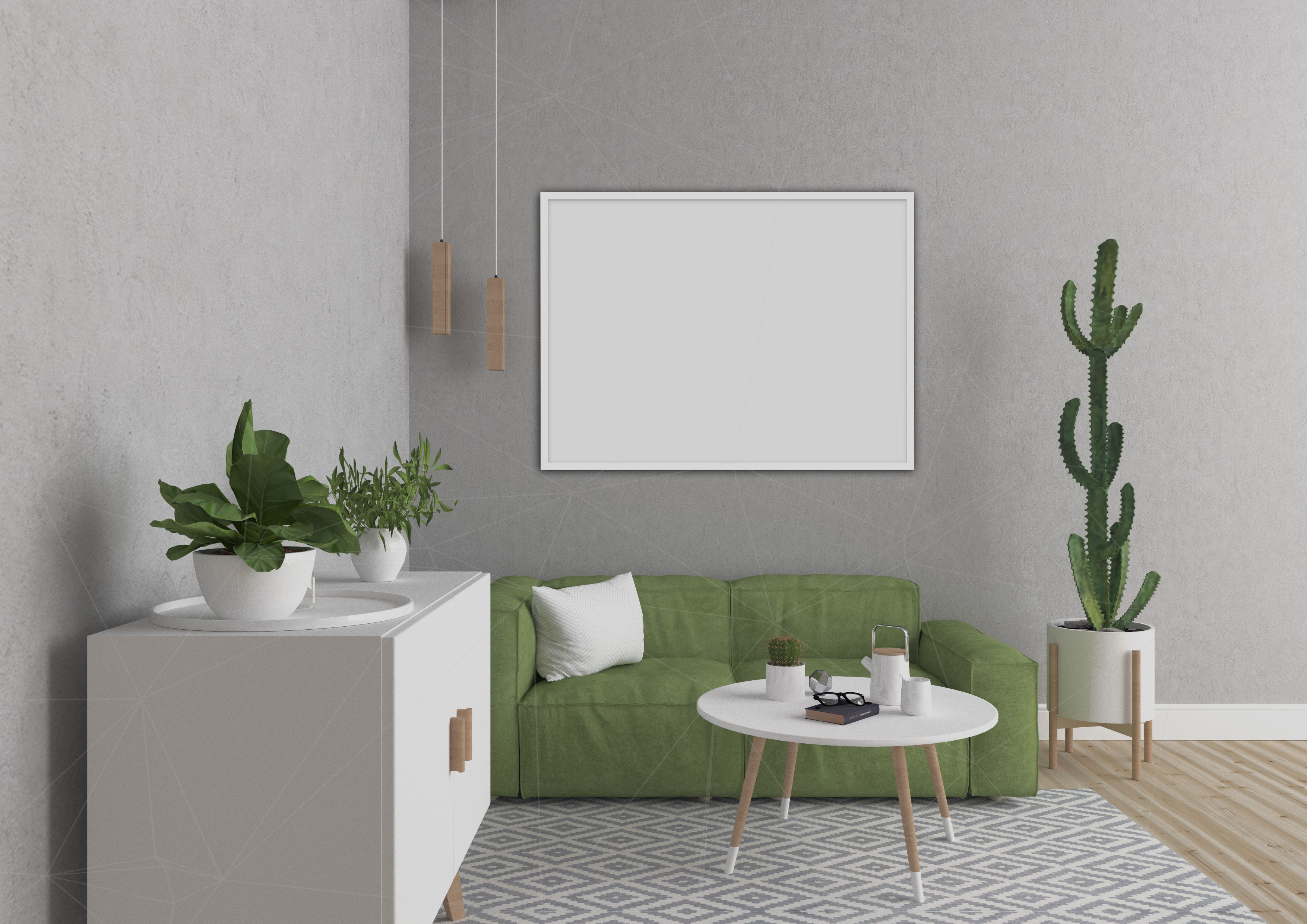 Interior mockup bundle - blank wall mock up example image 2