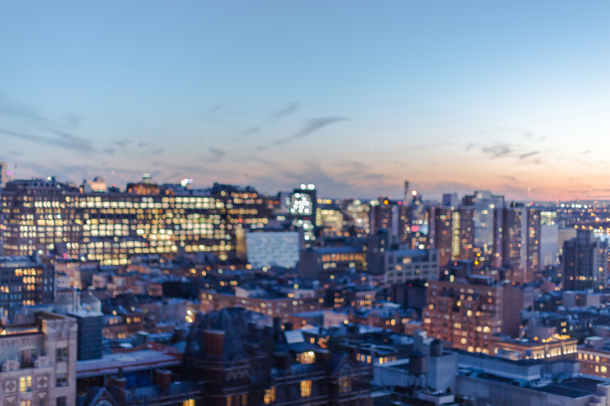 Blurred Manhattan aerial view example image 1