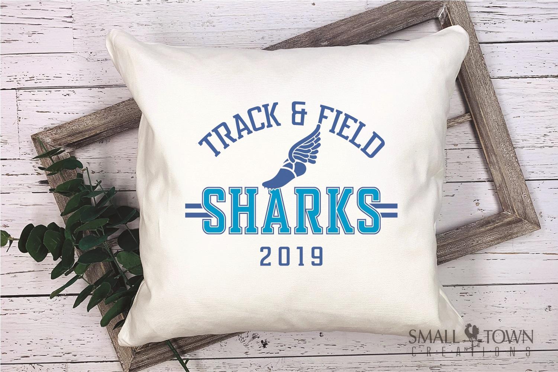 Sharks Track and Field, Shark mascot, PRINT, CUT, DESIGN example image 3