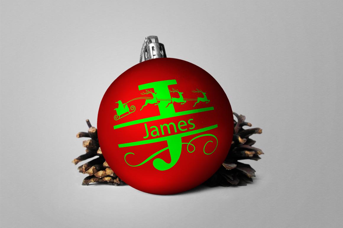 Christmas Alphabet Monogram SVG's example image 3