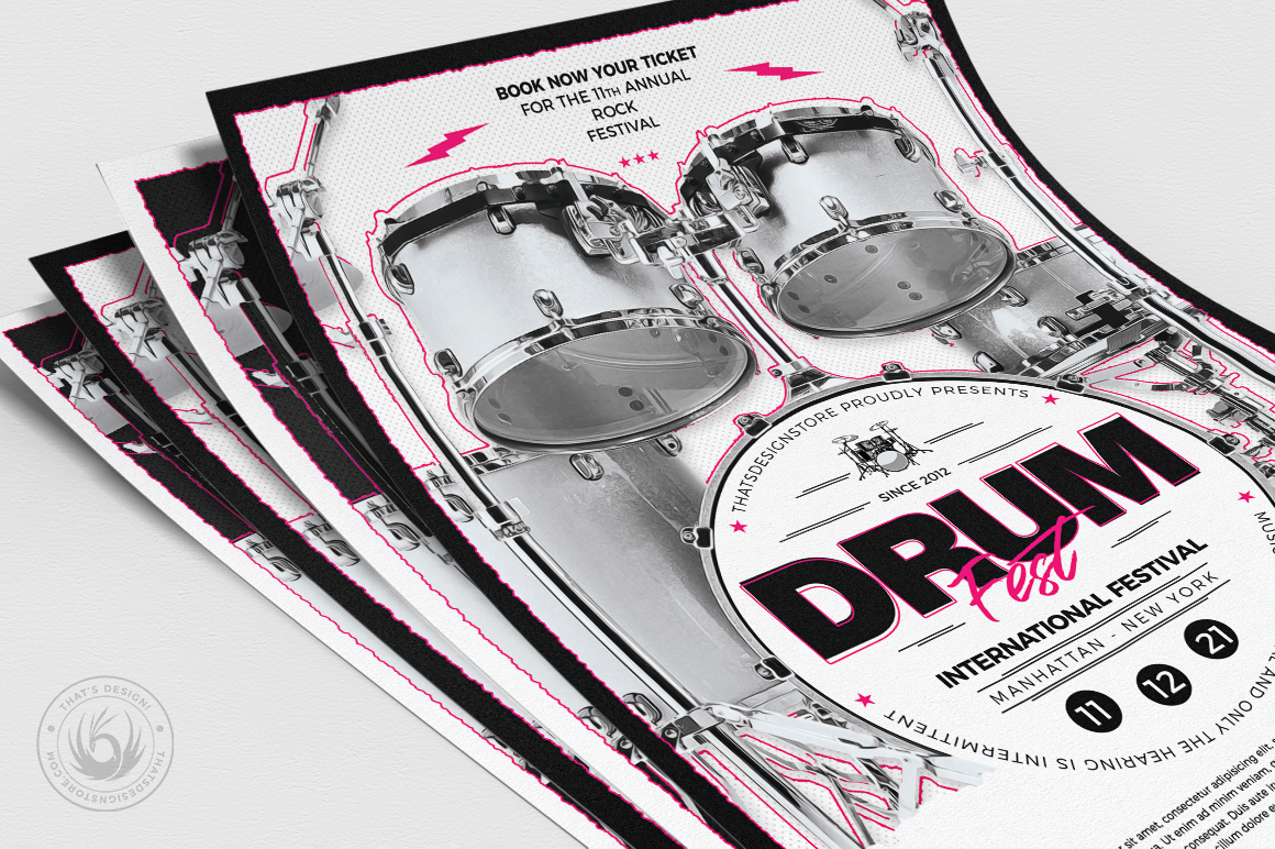Drum Fest Flyer Template example image 5