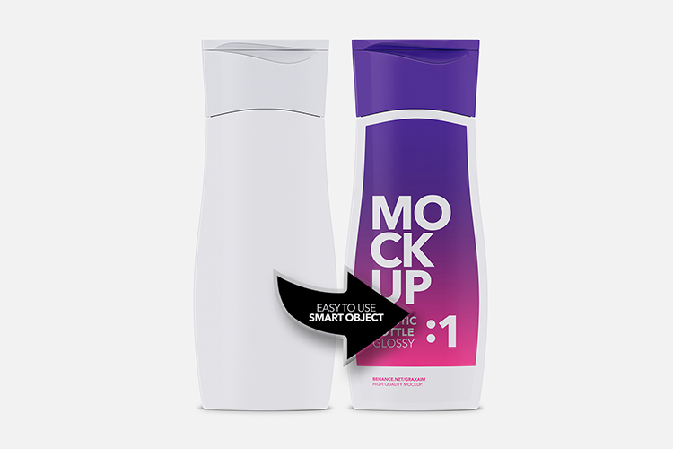 Cosmetics Bottle - Glossy - Front View example image 4