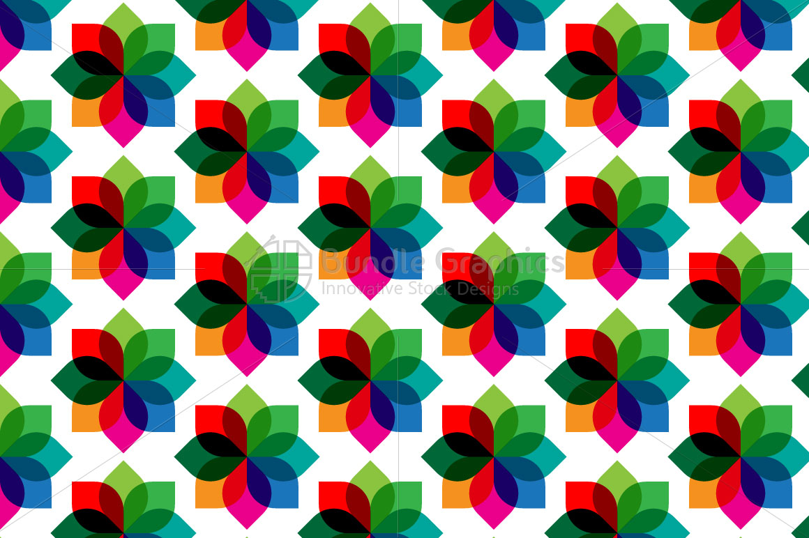 Abstract Geometrical Transparent Colorful Background example image 1