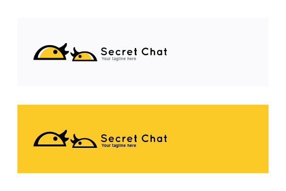 Secret Chat - Small Abstract Graphics of Tweeting Chickens example image 2