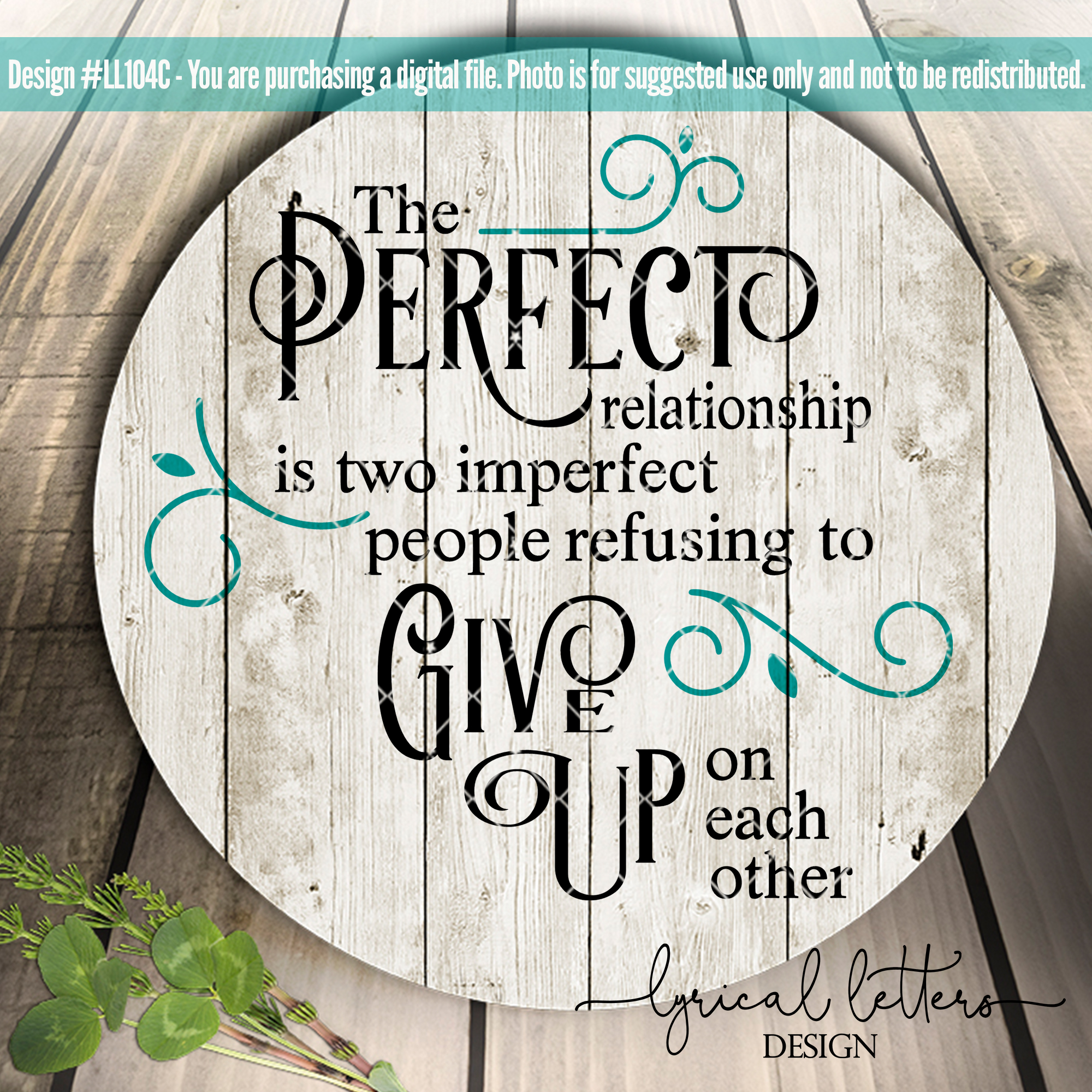 The Perfect Relationship Wedding Love SVG Cut File LL104C example image 2