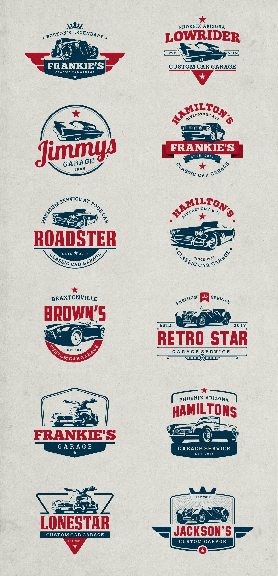 Classic Car Garage Badges & Logos example image 2