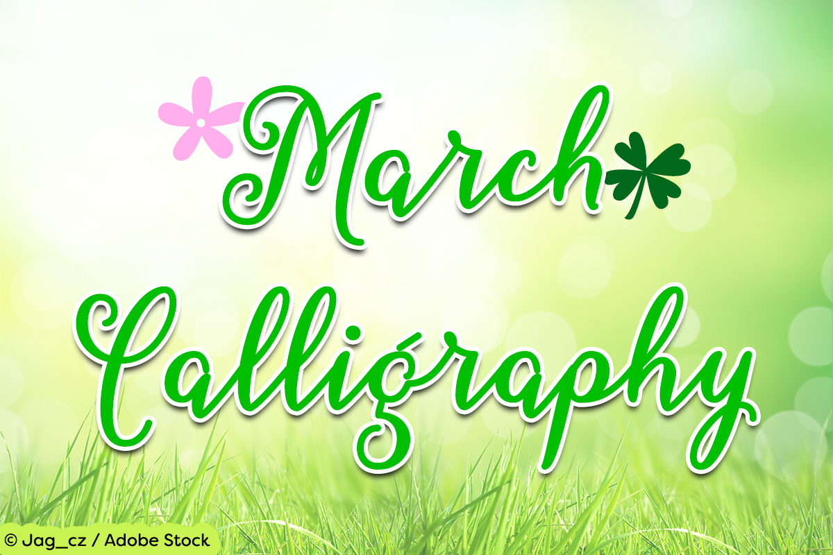 March Calligraphy example image 1