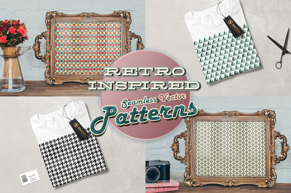 Retro Inspired Vector Patterns example image 6