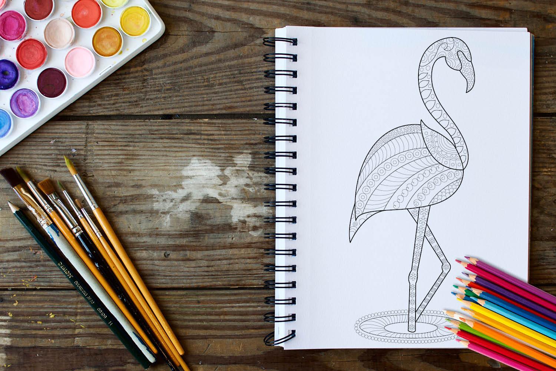 Birds Coloring Book - 30 Unique Birds Designs example image 3