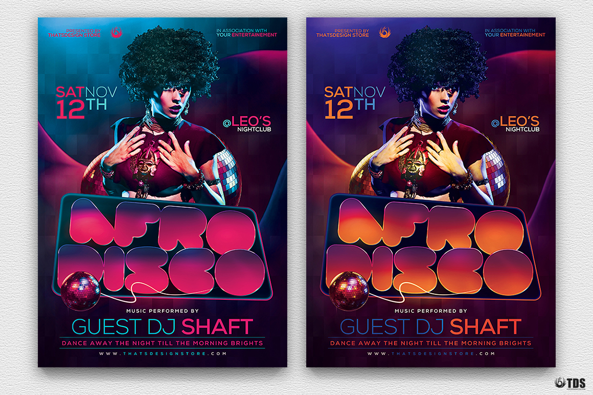 Afro Disco Flyer Template example image 3