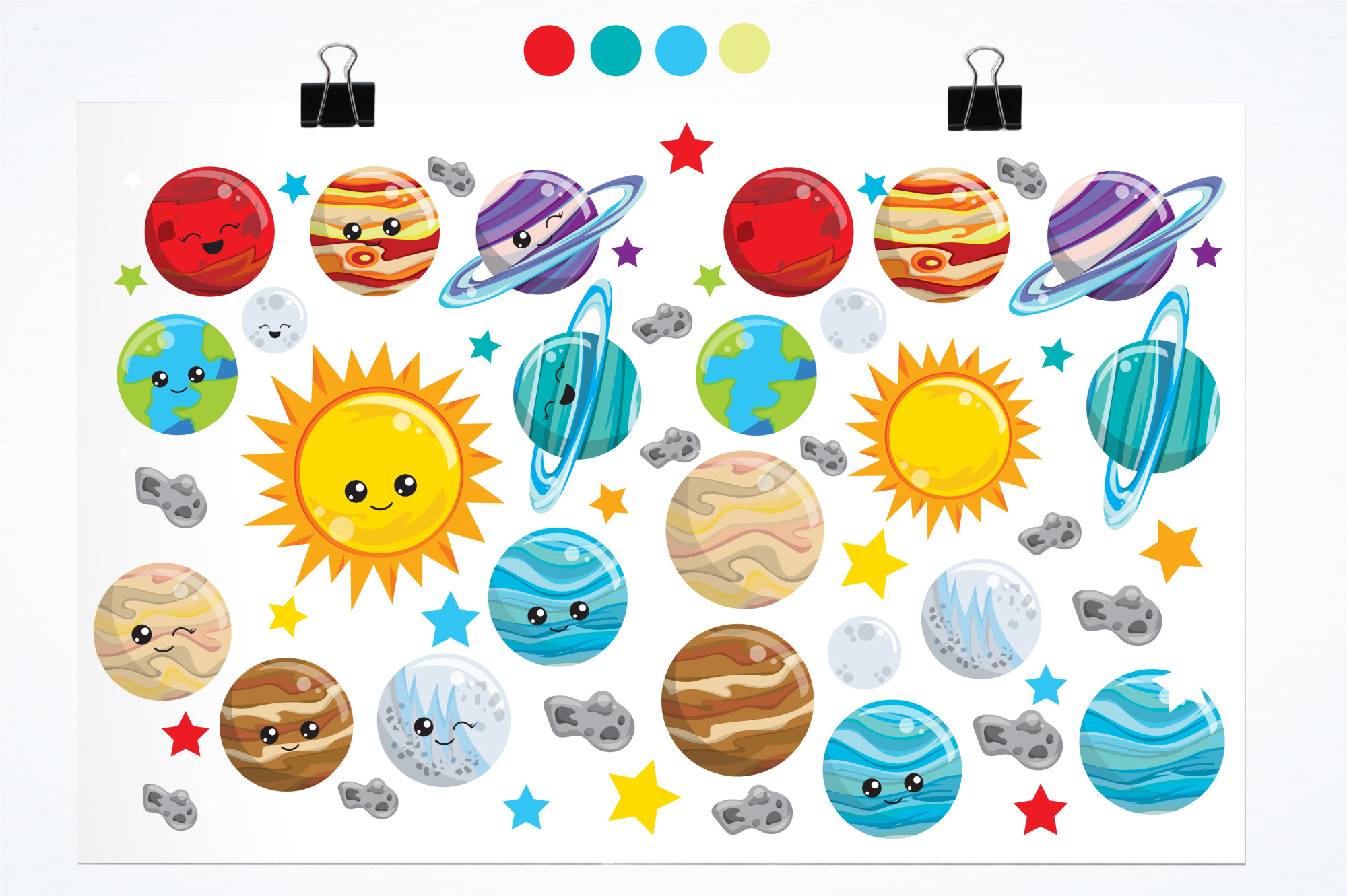 Solar System  graphics and illustrations example image 2