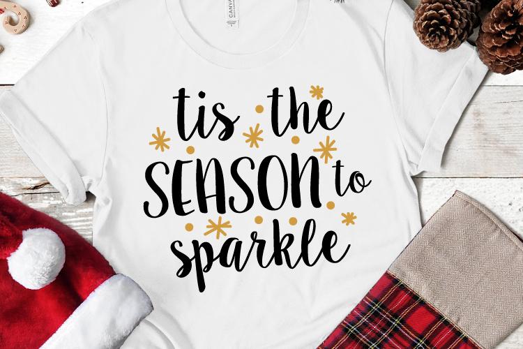 Tis the Season Sparkle Svg, Christmas, Christmas Svg example image 1