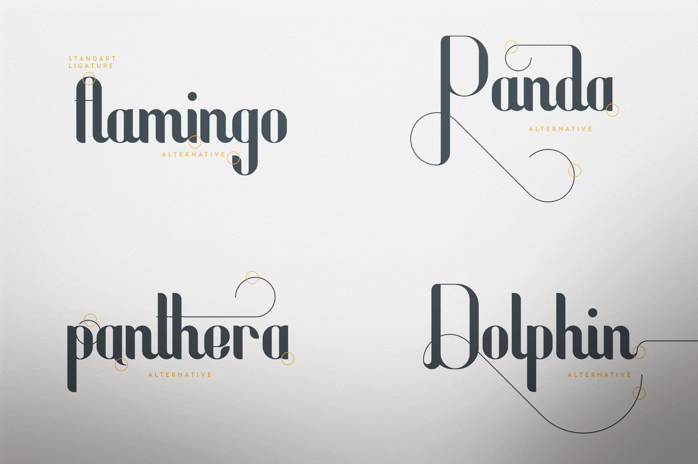 Fonatik Display font Extras example image 2