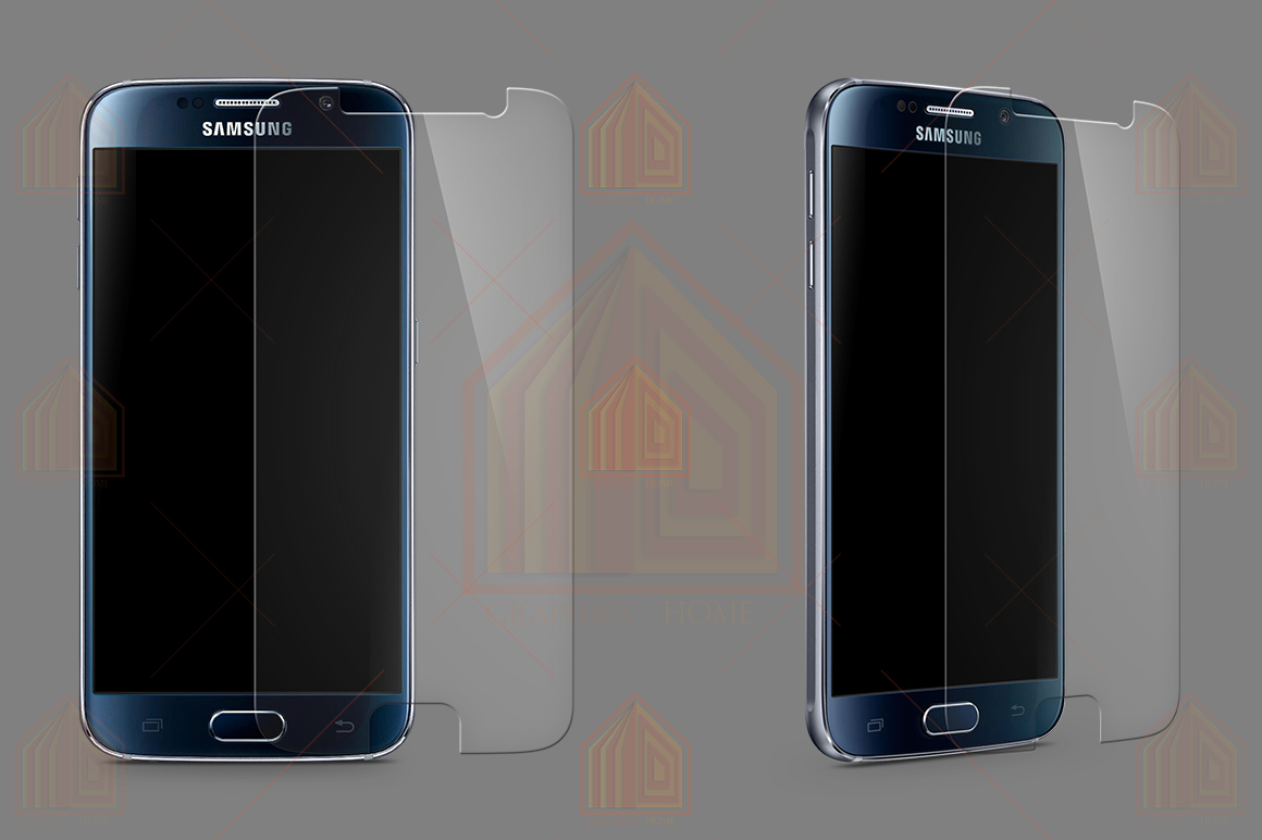 Samsung Galaxy S6 Tempered Glass Template  example image 1