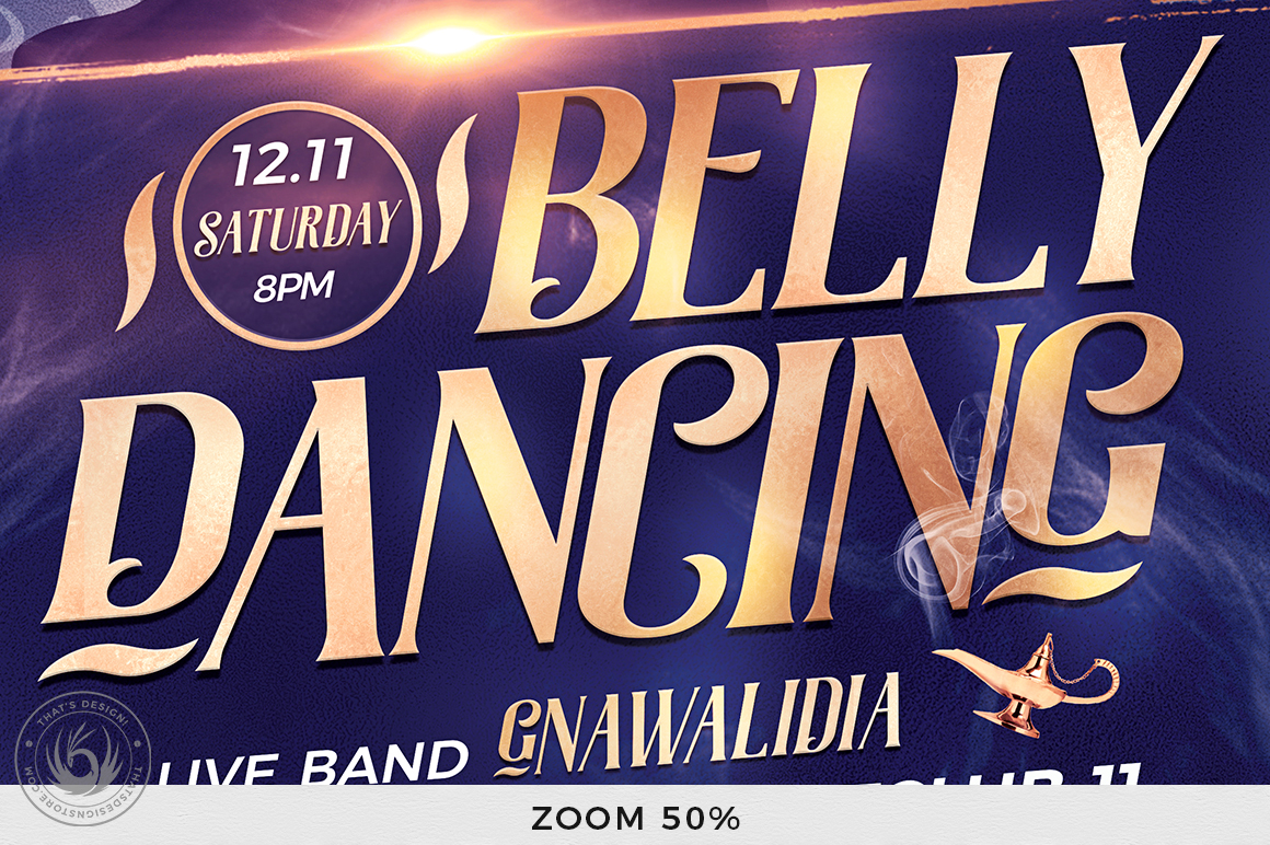 Belly Dancing Flyer Template V2 example image 8
