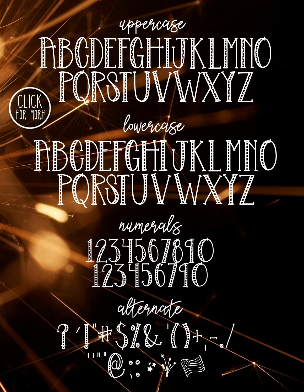 Liberty a Patriotic Font example image 2