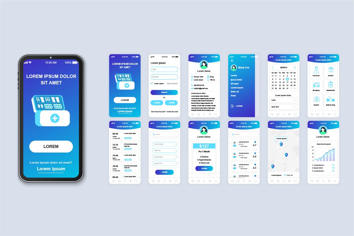 Bundle Mobile App UI Kit Screens example image 17