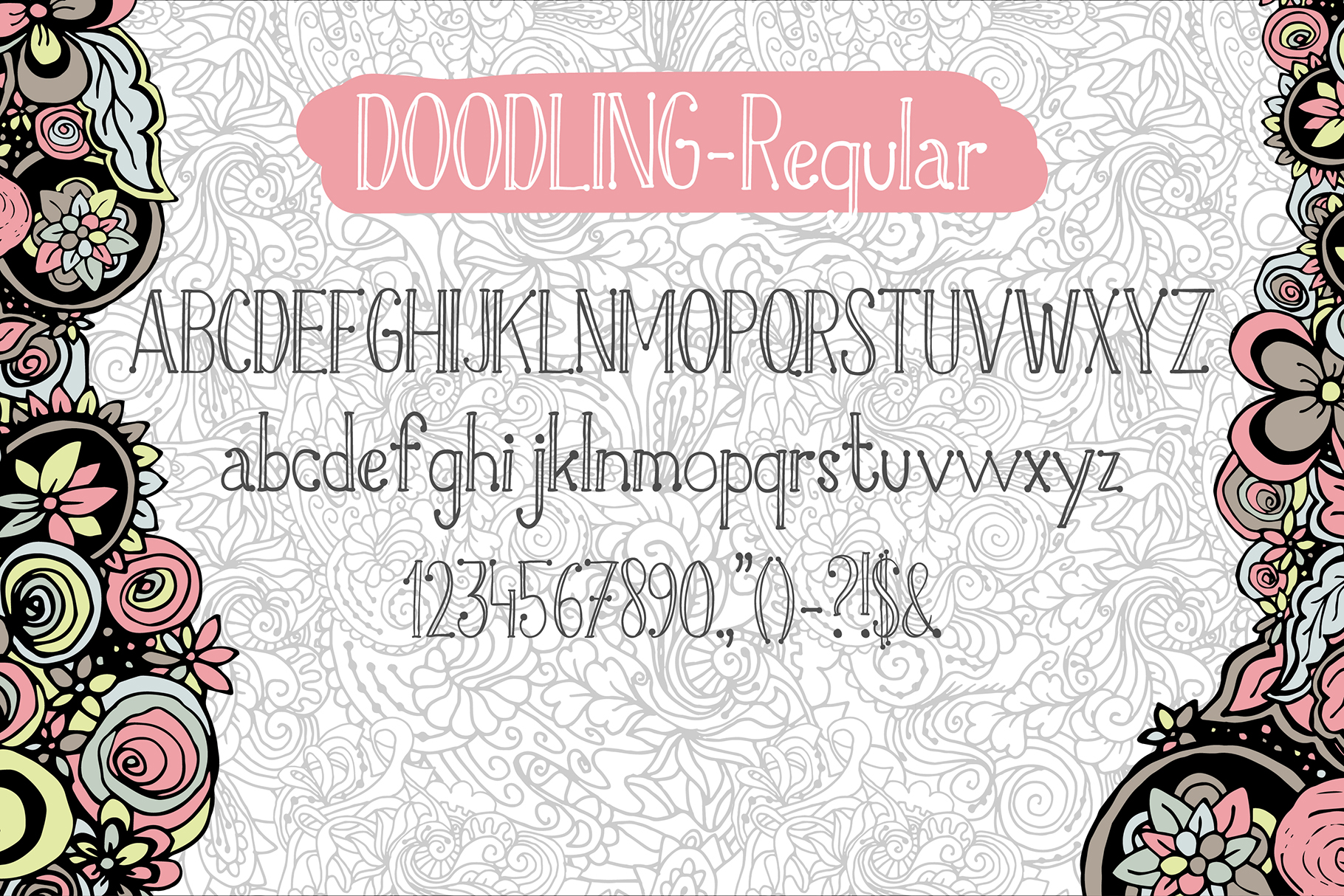 Doodling - hand crafted typeface example image 3