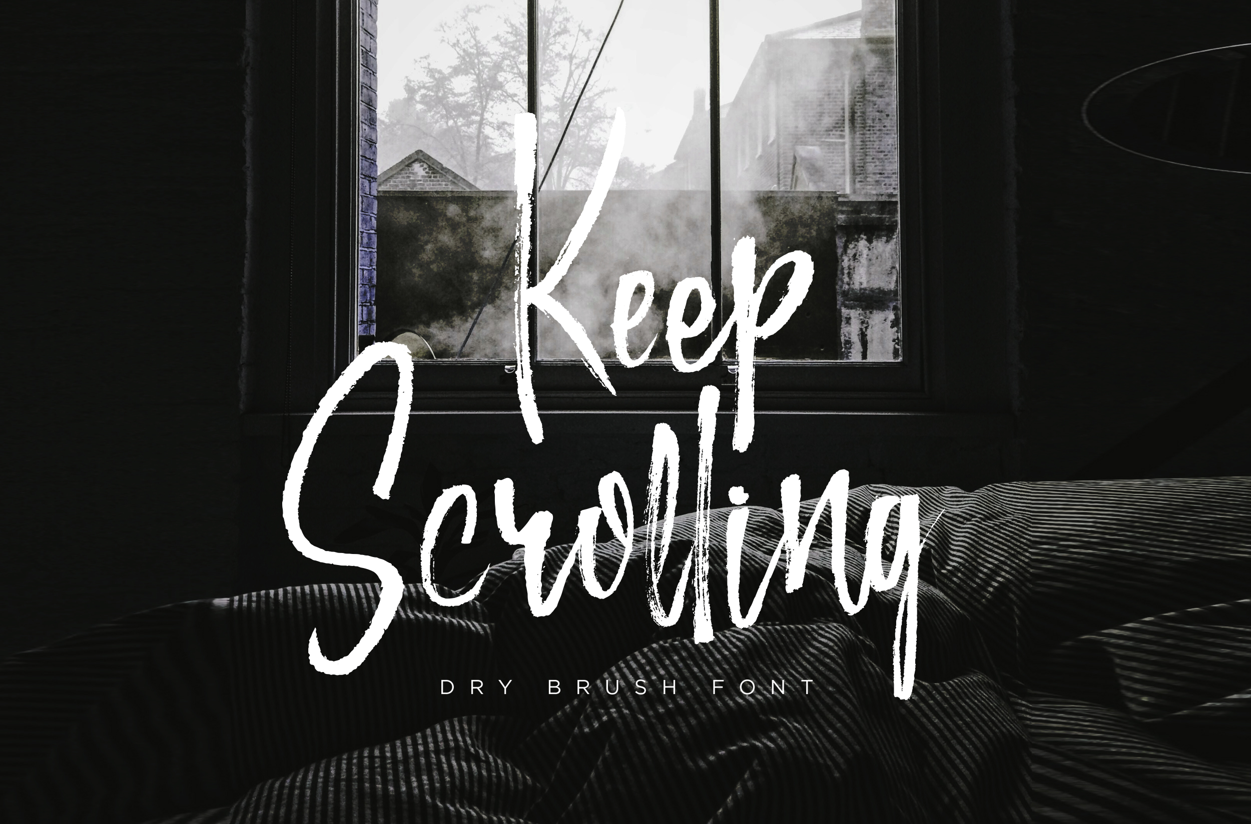 Keep Scrolling handwritten font example image 1