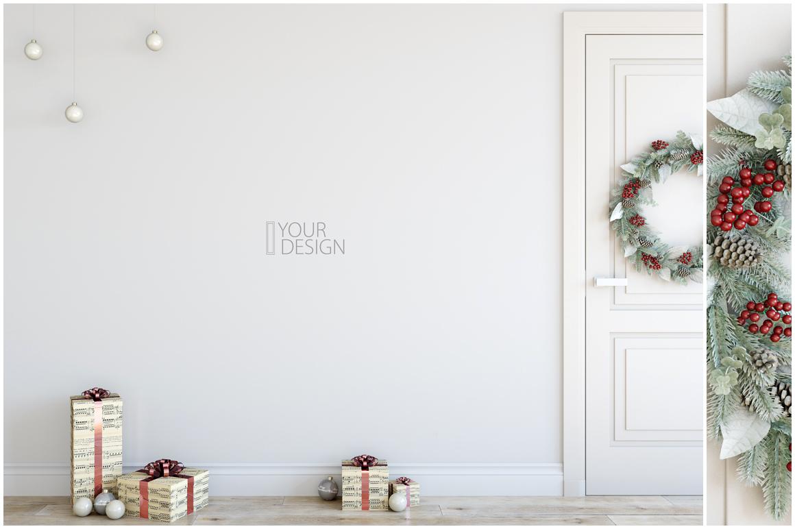 Christmas Wall Mockups example image 8