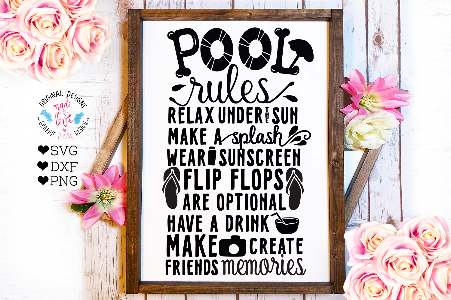 Home and Summer Decor Rules Cut File Bundle example image 8