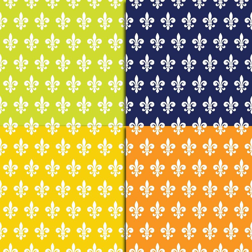 Fleur de Lis Digital Paper example image 6
