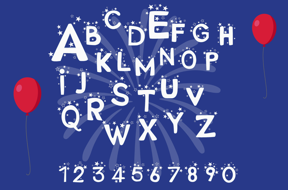 Stars and Types - 2 Fun Fonts example image 2