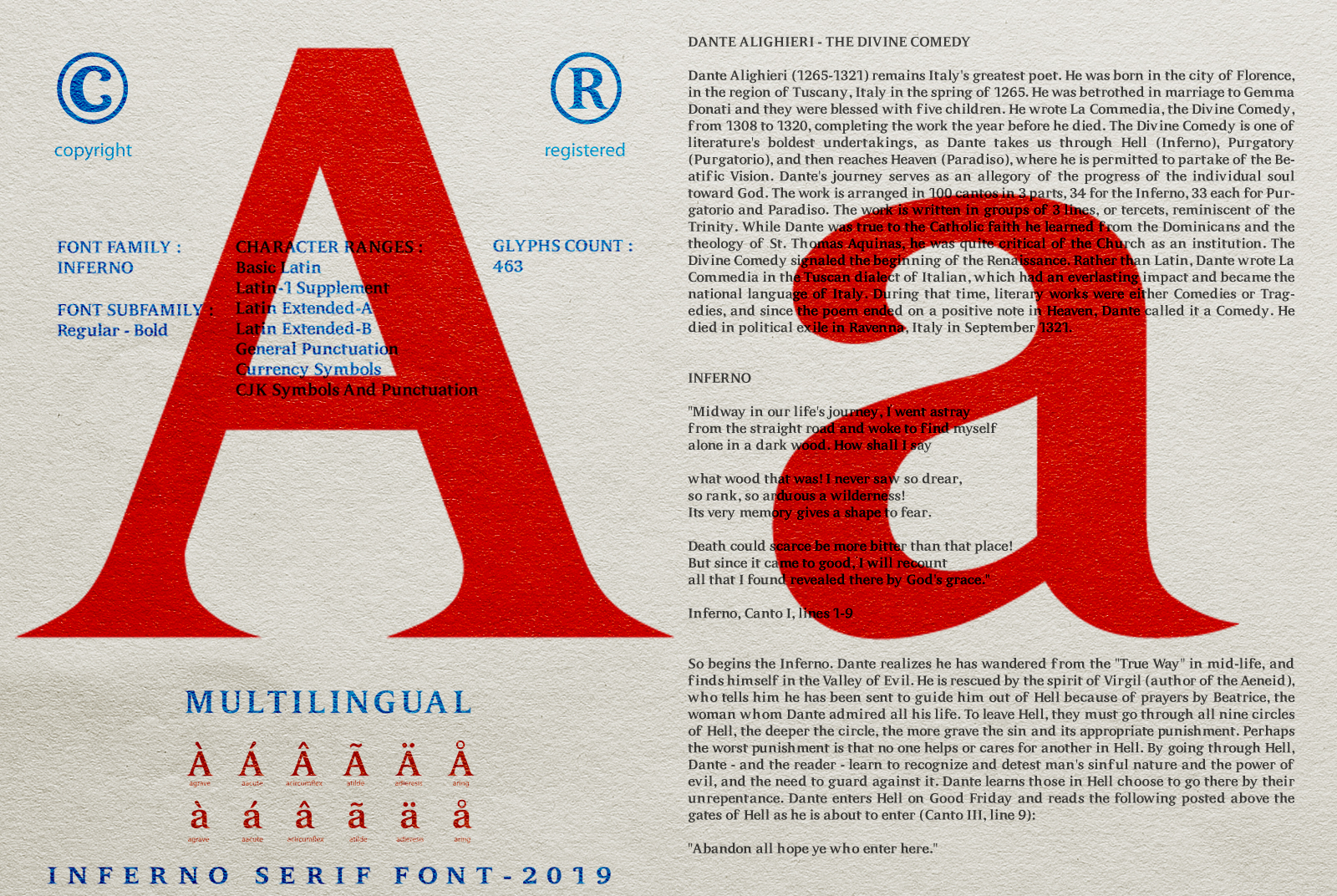 INFERNO Serif font example image 17