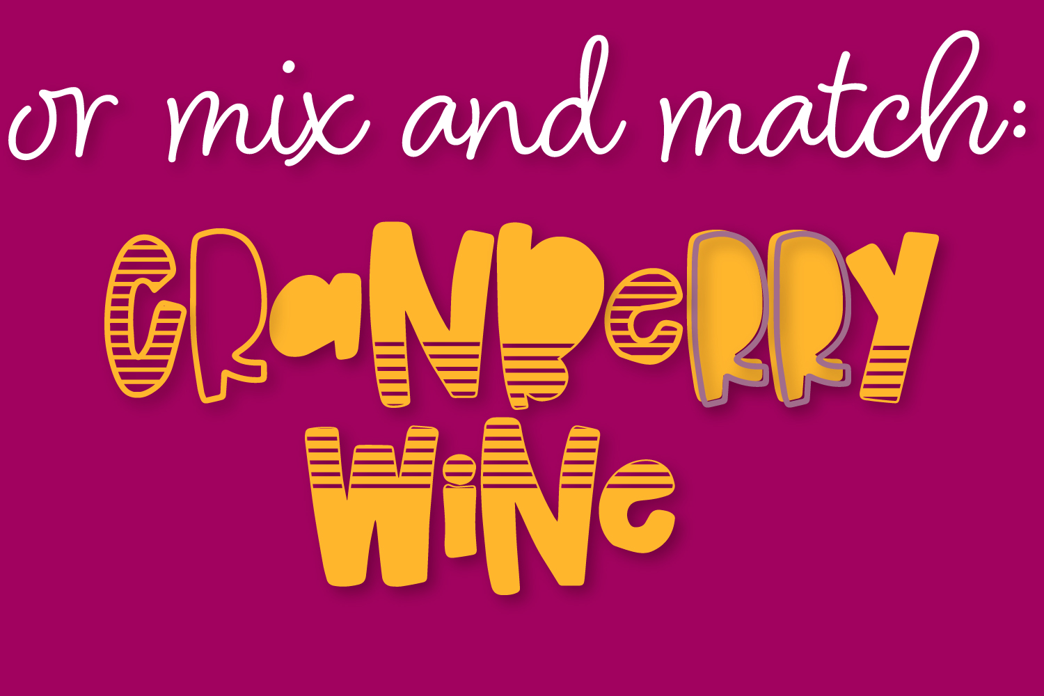 Cranberry Wine - A Striped Font Family of 6 New Fonts! example image 10