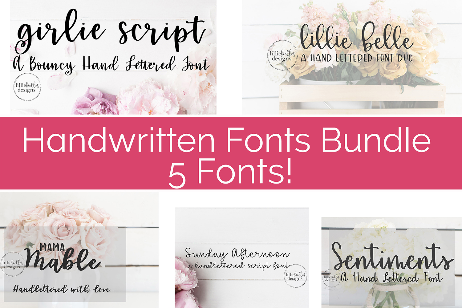 Handwritten Fonts bundle example image 1