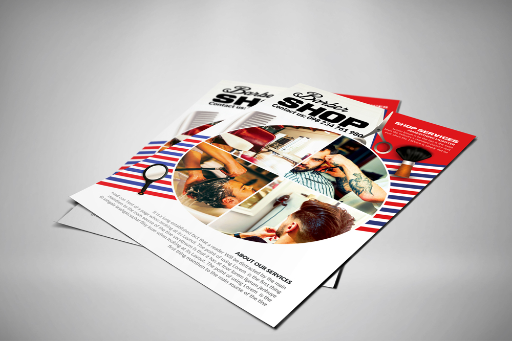 Barber Shop Psd Poster Templates example image 2