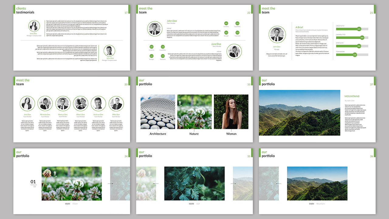 Clarity Company Minimal PowerPoint Template example image 2