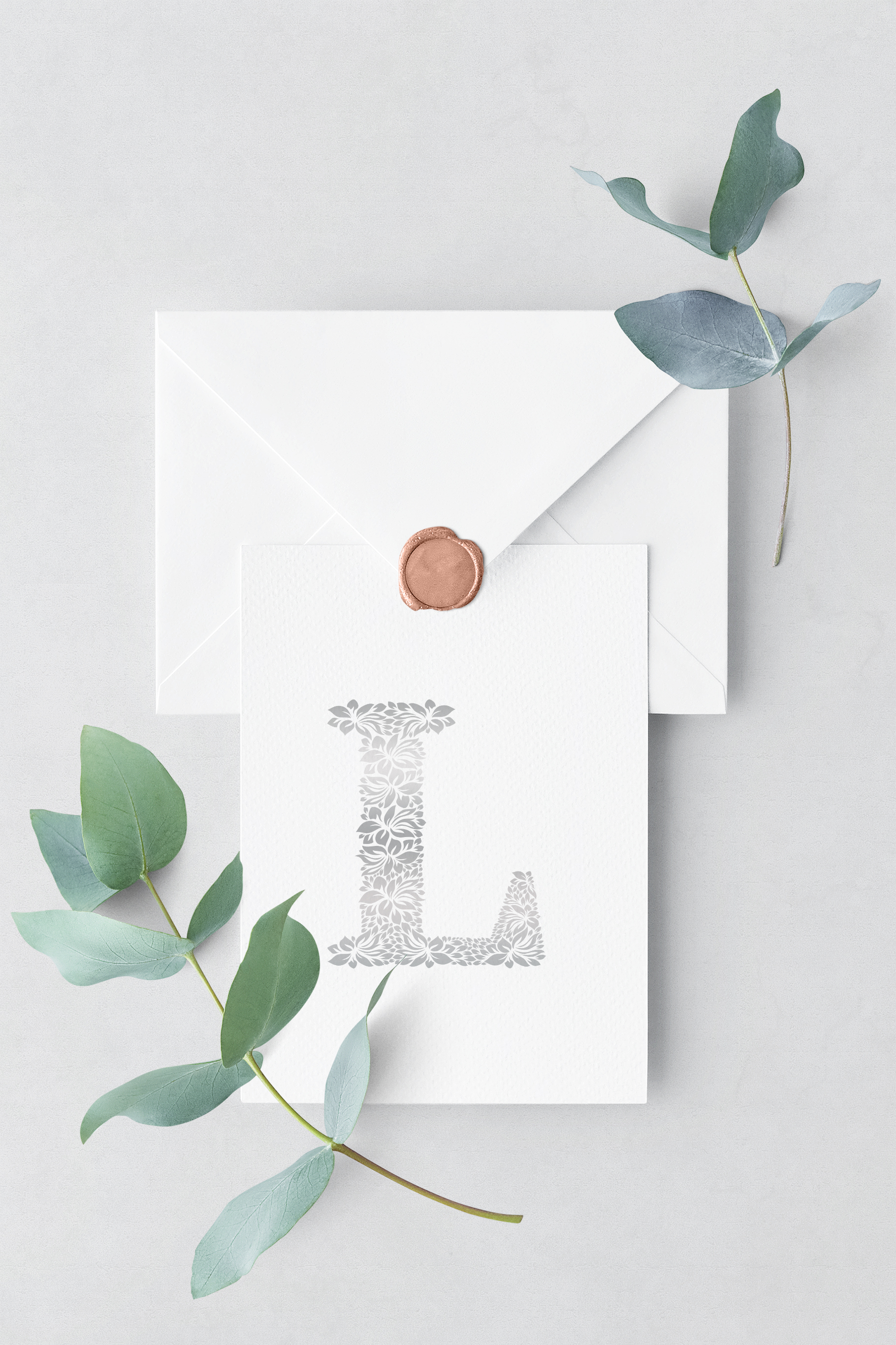 Letter L - Floral Logo Template example image 4