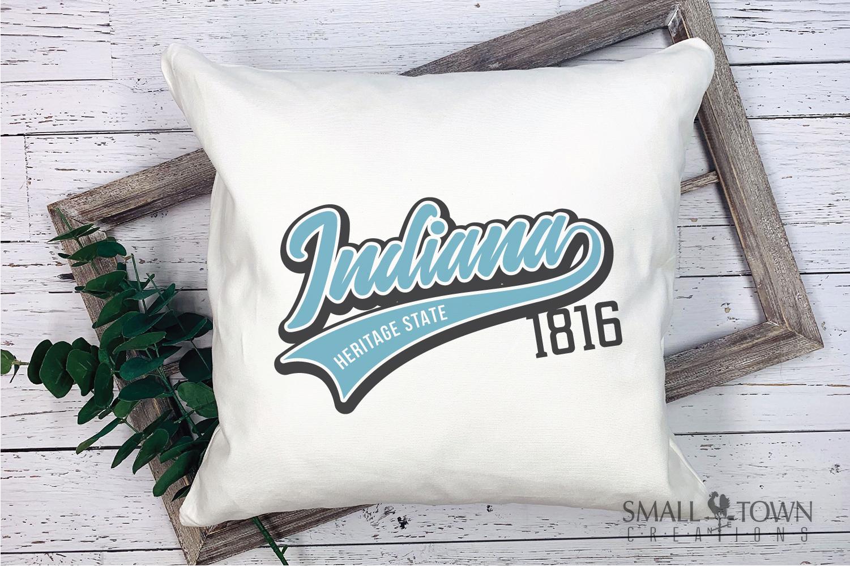 Indiana, Heritage state - slogan, Logo, PRINT, CUT & DESIGN example image 3