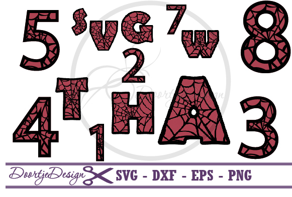 Spiderman Alphabet and Numbers example image 1