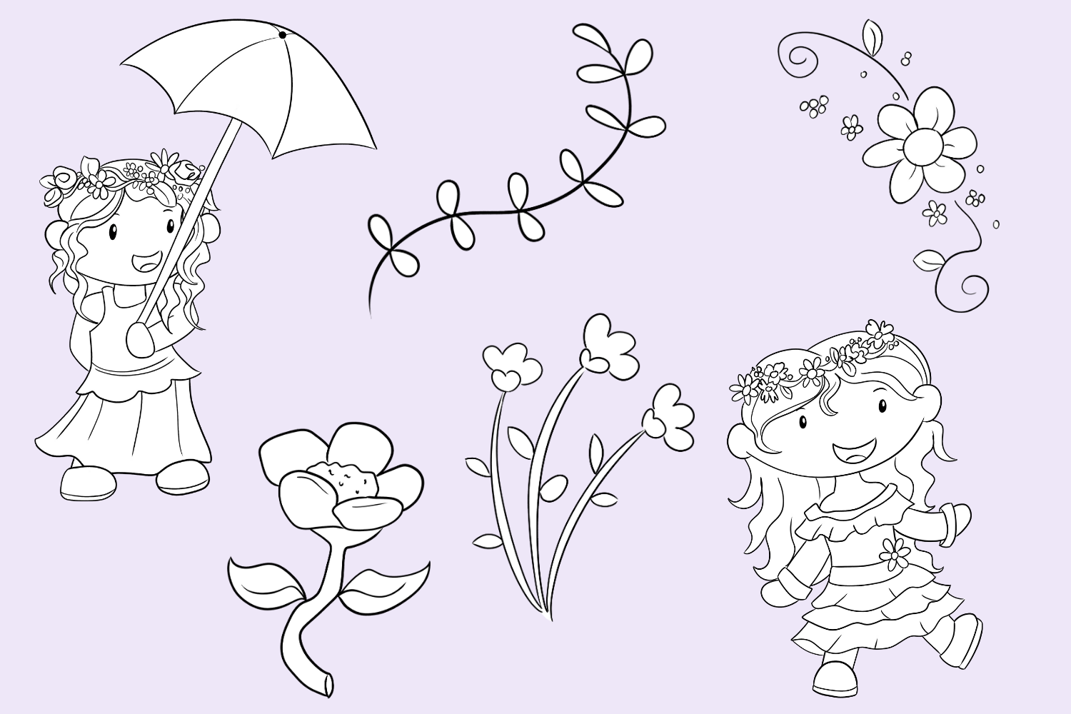 May Flowers Digital Stamps example image 3
