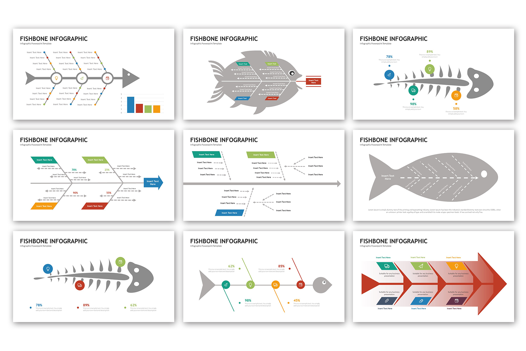 Fishbone Presentation - Infographic Template example image 2