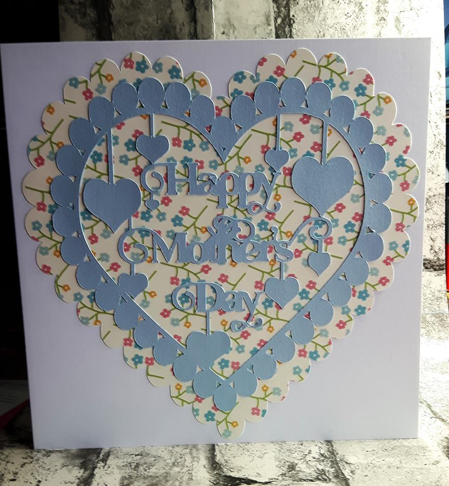 Happy Mother's Day with hearts papercutting template example image 5